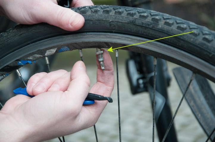 Fahrradschlauch ventil wechseln